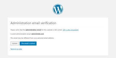 WordPress如何实现屏蔽站点管理员邮箱验证?