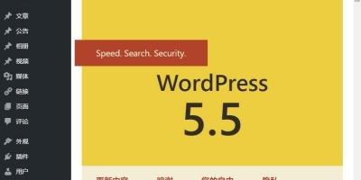 WordPress 5.5版本如何在速度,搜索,安全方面加强网站能力?