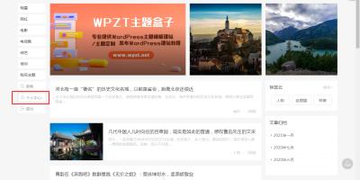 主题盒子新出一款简洁的WordPress博客主题wpzt-minblog主题